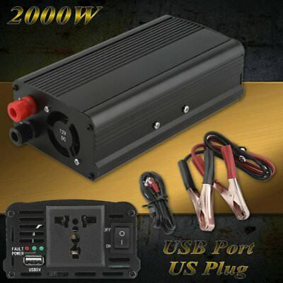 1000W 2000W dc 24V to ac 110 120V car automotive Power Inverter w/ USB Port TO