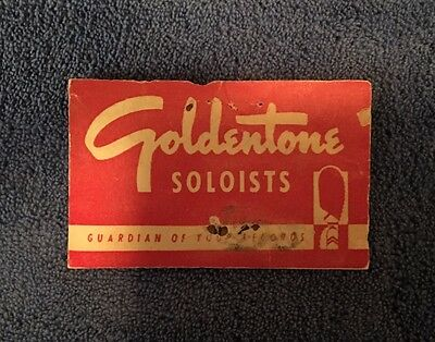 Vintage Phonograph Needles ~ 1950's GOLDENTONE SOLOISTS Unopened Packet