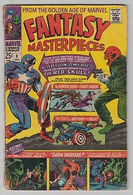 Fantasy Masterpieces #6, JACK KIRBY, DON HECK, THE RED SKULL, Marvel 1966 G  r