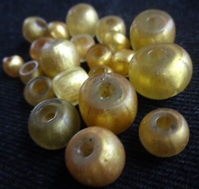 Roman to Islamic Period Gold In Glass Drawn Ancient beads Antiquities Antique