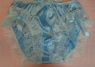 nel-jen High Leg Lace Sissy Ruffle Panties - Custom Made Nickers - other colors