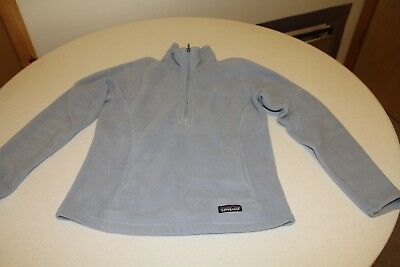 Women's baby blue Patagonia synchilla pullover 1/3 zip jacket size medium great.