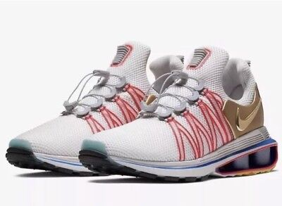 dbbb26bc79d0 NIKE SHOX GRAVITY MEN s CASUAL MESH VAST GREY - METALLIC GOLD AUTHENTIC sz  9 9.5