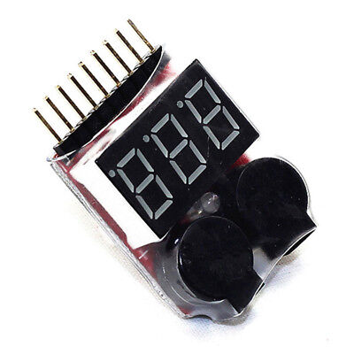 Buzzer NEU 1-8S Lipo Alarm Warner Schutz·Checker Voltage Buzzer Pieper LED E6Y6