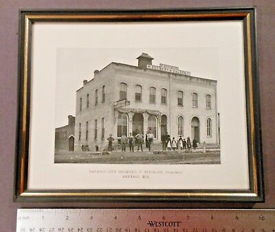 Pre Pro F. Effinger Brewery & Saloon Lithograph Print, Baraboo, WI
