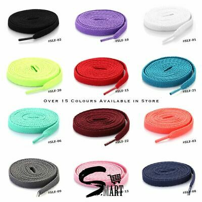 *NEW GOOD QUALITY SHOE LACES Extra Long Shoe Strings 123cm Unisex FLAT 22 Colors