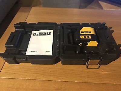 DeWalt DW088K Self Levelling Cross Line Laser Level With Wall Bracket Faulty