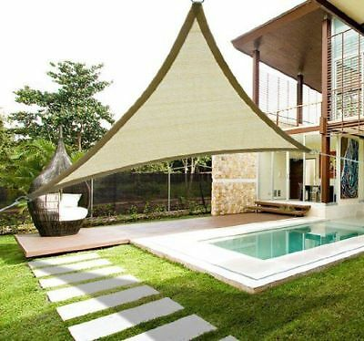 Outsunny 18' Patio Lawn Shelter Sun Sail Shade Triangle w/ Carrying Bag Sand