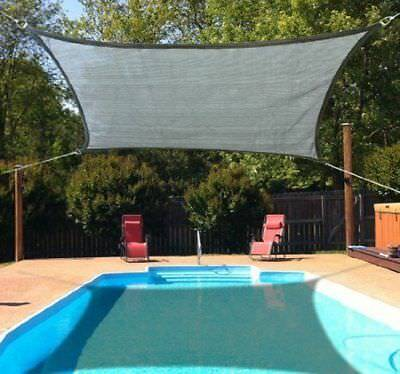 Outsunny 10x13ft Patio Lawn Shelter Sun Sail Shade Rectangle w/ Carrying Bag