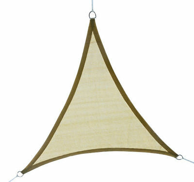 Outsunny 12ft Patio Lawn Shelter Sun Sail Shade Triangle w/ Carrying Bag Sand