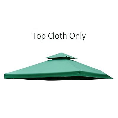 Outsunny 10'x10' 2-Tier Gazebo Canopy Top Cover Replacement Square Green