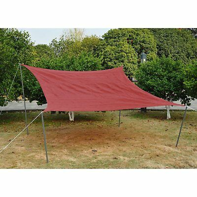 Outsunny 12ft Patio Lawn Shelter Sun Sail Shade Square w/ Carrying Bag