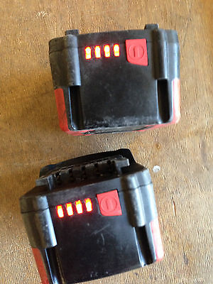 Deux  Batteries  Metabo  Li-Ion  14,4V-2,6A/H