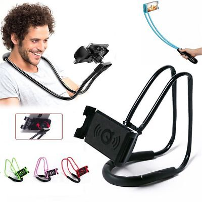 Universal Lazy Hanging Neck Phone Stand Mount Necklace Support Bracket Holder HQ
