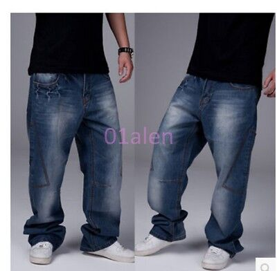 Casual Hip Pants Jeans Loose Hop Fashion Denim Hot Mens Trouser 2018 Cargo Baggy gf7vYb6y