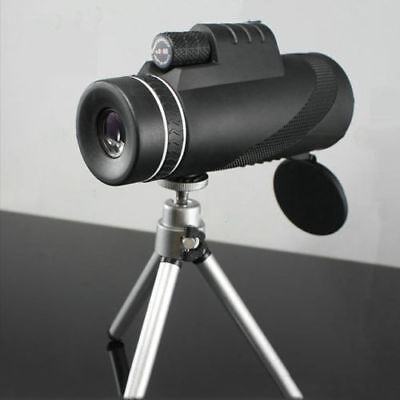 HD 40x60 Zoomable Monocular Field Glasses Handheld Telescopes W/Clip & Tripod