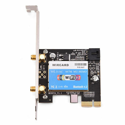 Dual Band 867Mbps PCI-E WiFi Wireless Adapter For Intel 8265AC Card Bluetooth4.2