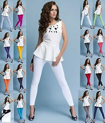 Womens Full Length Cotton Leggings All Colours & UK Size 8-28