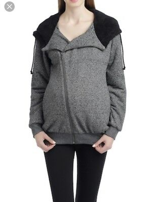 NWOT- Momo Maternity Knit Assymeyrical Hoodie- Small