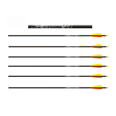 Easton Archery Gamegetter Spine 340 XX75 Alloy Compound Bow Arrows * 6 Pack *