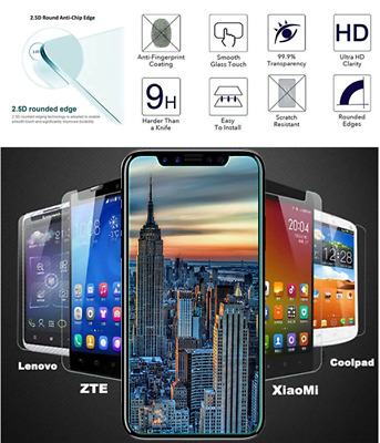 """For 5.0"""" 5.5"""" 6.0"""" phone Universal Tempered Glass Film Screen Protector Guard H1"""
