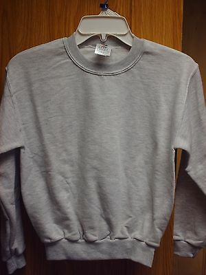 Kids Youth Medium 10-12 Sweatshirt Ash Gray Jerzees
