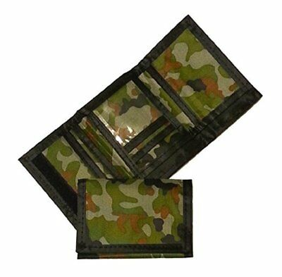 Army Camouflage Wallet Nylon Velcro Trifold Kids Wallets for Boys Camo Hunting (