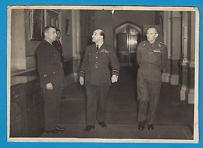 Historic picture Bernard Montgomery Hastings Medhurst britsh official photo RfT2