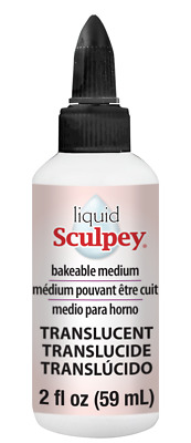 Sculpey TRANSLUCENT LIQUID SCULPEY Bakeable Clay 2 oz Made in USA