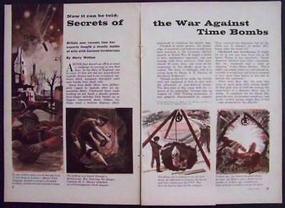Nazi WWII Time Butterfly Bomb Defusing Secrets 1959 article