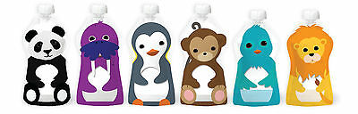 Squooshi Reusable Pouches Assorted 6 Pack - 6 Pouches. GREAT BUY !