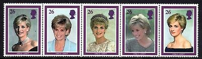1998 Commemoration of Princess Diana Complete Set SG2021 - 2022 Unmounted Mint