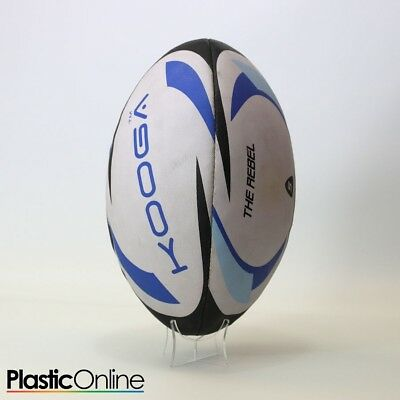 Acrylic Rugby Ball Display Stand Ball Riser Plinth Vertical Rugby Ball Holder