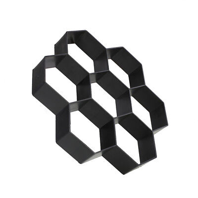 Black Hexagon Driveway Paving Pavement Stone Mold Stepping Pathmate Mould Paver*