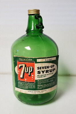 Vintage 7up Syrup Bottle c1967
