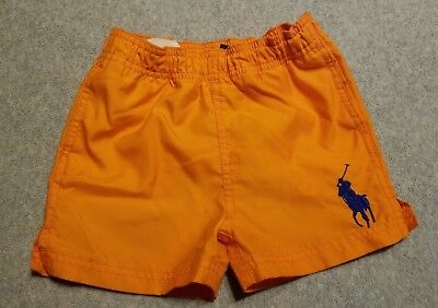 Polo Boy's swim trunks - bright orange - 18 months - gently pre-owned
