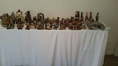 Lot of 77 Boyds Bears, Folkstone Collection, Yesterday Child and Snowbabie...