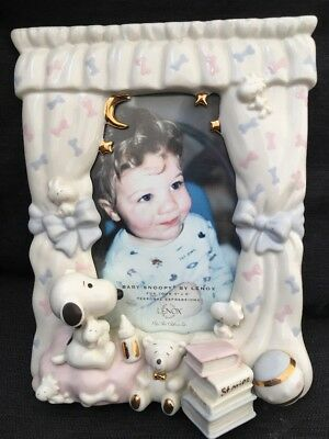 Lenox 4 X 6 Peanuts Baby Snoopy 3D Fine Bone China Picture Photo Frame
