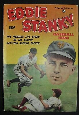 EDDIE STANKY #1 Baseball Hero Comic Book 1951, Fawcett, VG/F, 5.0