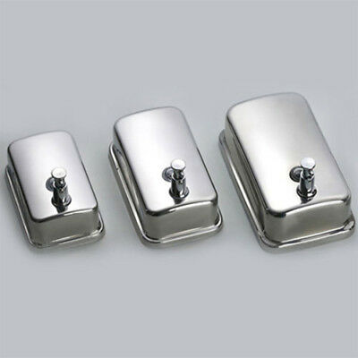 Wall Mounted Bathroom Stainless Steel Soap/Shampoo Dispenser Lotion Pump Action