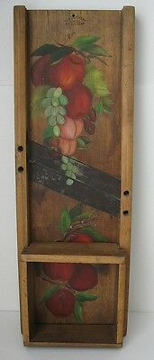 "Antique/Vintage Primitive 25 3/4"" Wooden Slaw Cutter – Hand Painted"