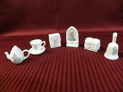 Precious Moments 1998 PMI Miniatures Faith Peace Good Things Bell Cup Saucer Etc