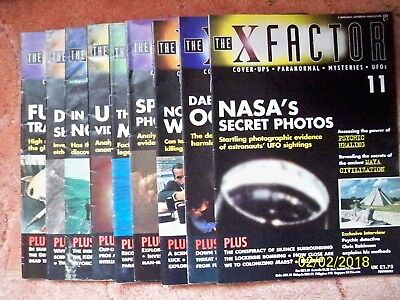 UFO'S -THE X FACTOR Paranormal Magazines  x  9  - 1997.