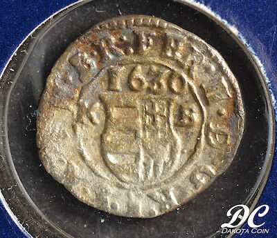 Hungary 1630 1 Denár ~ Great Historic Silver Coins Of The World