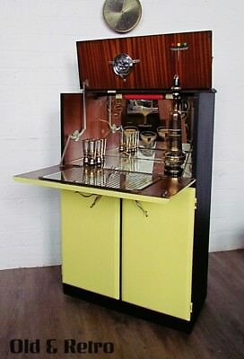 50s 60s Mid Century Retro Vintage Cocktail Drinks Cabinet Bar Unit Atomic Era