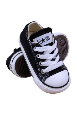 7J235 Kids Toddler Chuck Taylor All Star Low Converse Black
