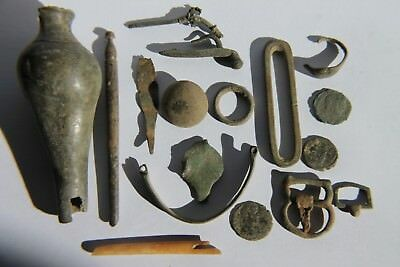 Ancient Mixed Group of Metal Detecting Artefacts