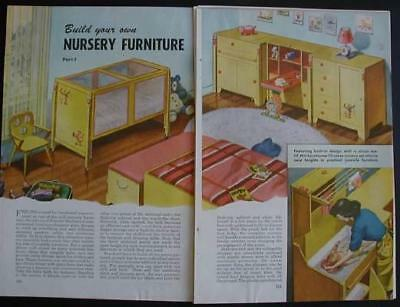 Nursery Childs Furniture How-To build PLANS 1951 Eames Modern