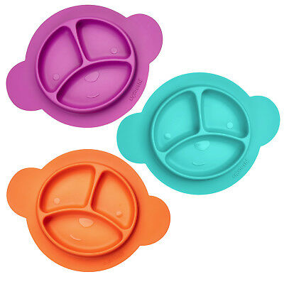 Squooshi Silicone Divided Plates / 3 Colors   * BRAND NEW PRODUCT *
