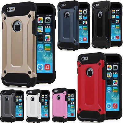 Hybrid Armor Shockproof Rugged Bumper Case For Apple iPhone 8 7 6 Plus 6S